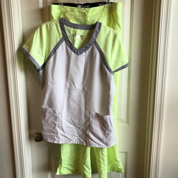 4752dd9e2b1 Grey's Anatomy Other | Greys Anatomy Neon Scrub Set Top And Pants ...